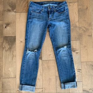 American Eagle Skinny Stretch Distressed Jeans